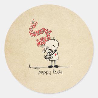 Puppy love - dog lover sticker