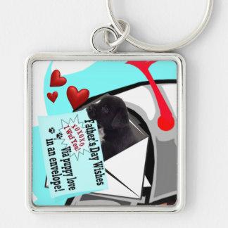 Puppy Love in an Envelope Keychain Black Lab Puppy