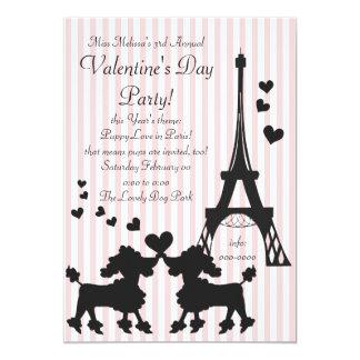 Puppy Love in Paris 13 Cm X 18 Cm Invitation Card