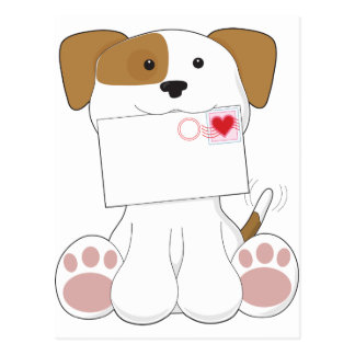 Puppy Love Love Letter Postcards
