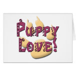 Puppy Love Pawprint Tees and Gifts Greeting Card