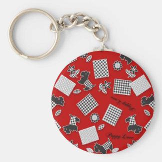 Puppy Love Scotty Terrier Red Keychain