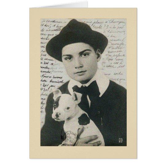 Puppy Love Vintage Birthday Card