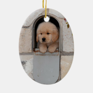 Puppy Mail Christmas Ornament