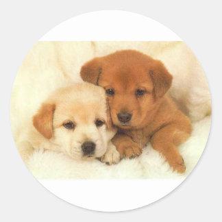 Puppy Pals Round Sticker