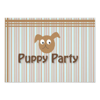 Puppy Party 13 Cm X 18 Cm Invitation Card
