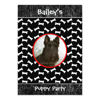 Puppy Party Dog Gathering Custom Photo Card
