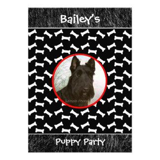 Puppy Party Dog Gathering Custom Photo Invites