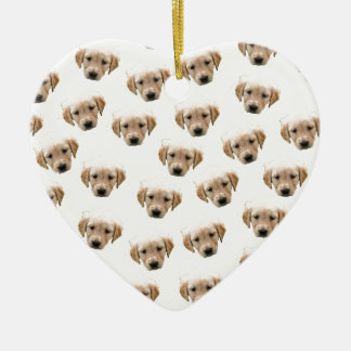 puppy pattern ceramic heart decoration