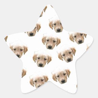 puppy pattern star sticker