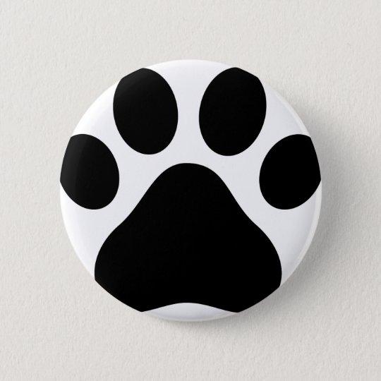 Puppy Paw 6 Cm Round Badge