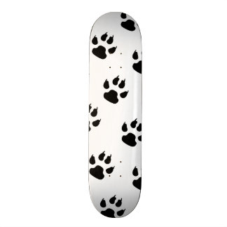 Puppy Paw Prints 18.1 Cm Old School Skateboard Deck