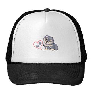 PUPPY PAW PRINTS ON HEAR HAT