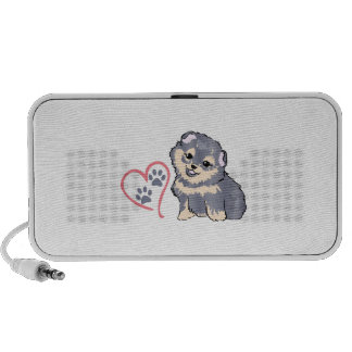 PUPPY PAW PRINTS ON HEAR NOTEBOOK SPEAKERS