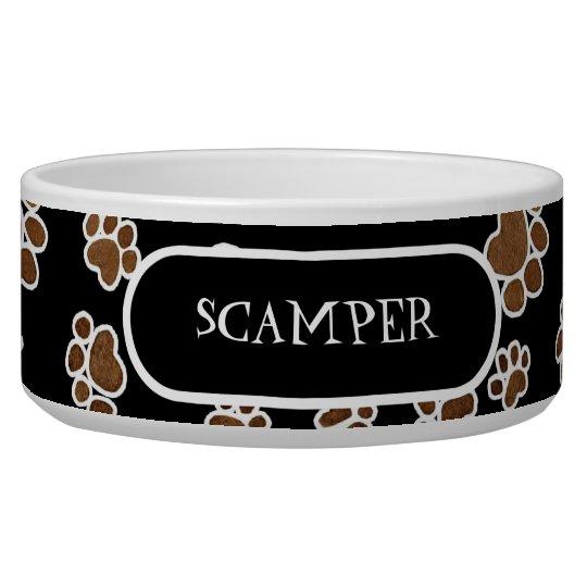 Puppy Paw Prints or Large Dog Food Feeding