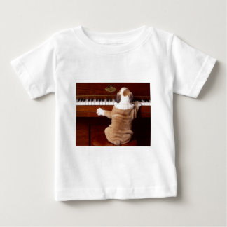 Puppy Pianist Baby T-Shirt