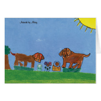 Puppy Picnic Card
