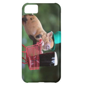 Puppy pig shopping cart iPhone 5C case