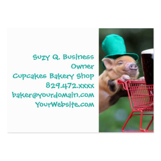 Puppy pig shopping cart pack of chubby business cards