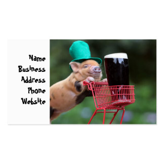 Puppy pig shopping cart pack of standard business cards