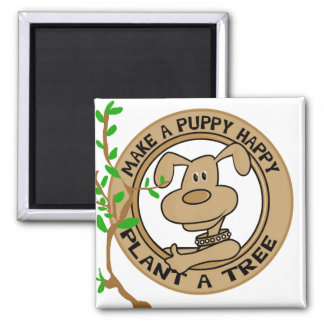 Puppy Plant a Tree Tshirts and Gifts Magnets