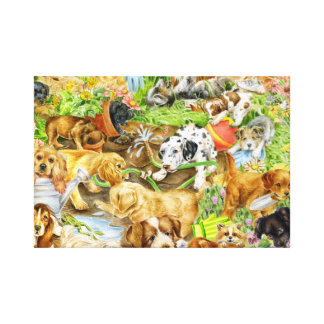 Puppy Play Canvas Print