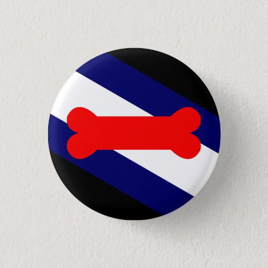 "Puppy Play Pride Flag Small, 1¼"" Round Button"