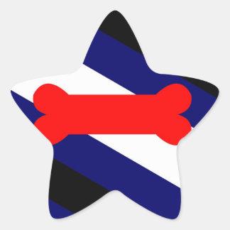 Puppy Play Pride Flag Star Stickers, Glossy (20) Star Sticker