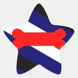 Puppy Play Pride Flag Star Stickers, Matte (20) Star Sticker