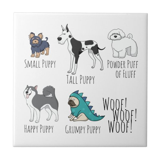Puppy Poem Small Square Tile