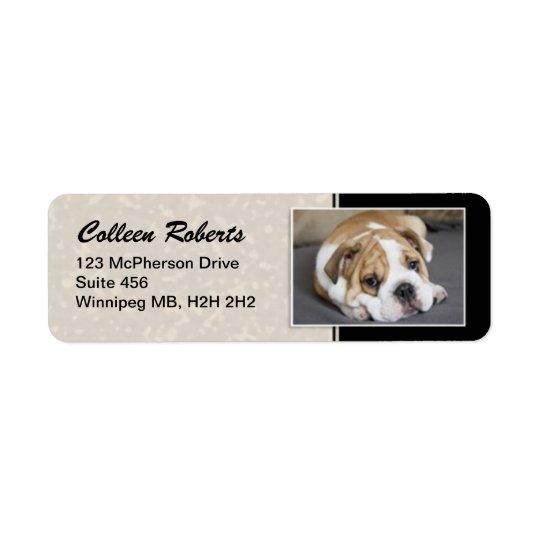 Puppy Portrait - Style 2 Return Address Label