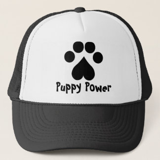 Puppy Power - Paw Print -  Animal lovers Trucker Hat