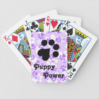 Puppy Power - Paw Prints -  Animal lovers Bicycle Playing Cards