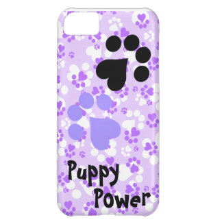 Puppy Power - Paw Prints -  Animal lovers iPhone 5C Case