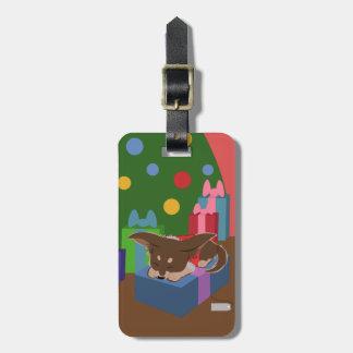 Puppy Present Luggage Tag