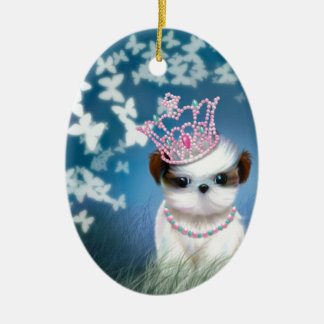Puppy Princess Christmas Ornament