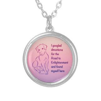Puppy Road to Enlightenment Pendants