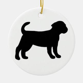 Puppy Round Ceramic Decoration