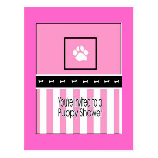 Puppy shower invitaion postcard