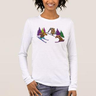 Puppy Ski Vacation Long Sleeve T-Shirt