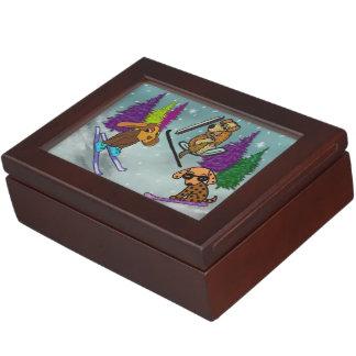 Puppy Ski Vacation Memory Box