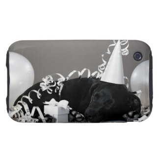 Puppy sleeping in party decorations tough iPhone 3 cover