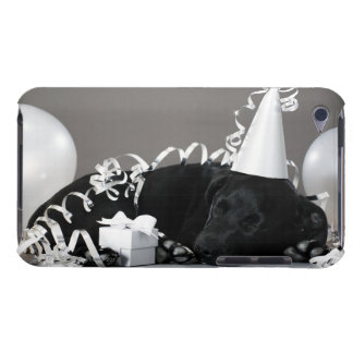 Puppy sleeping in party decorations iPod touch case