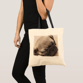 Puppy Soundly Sleeping Tote Bag