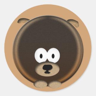 Puppy Round Sticker