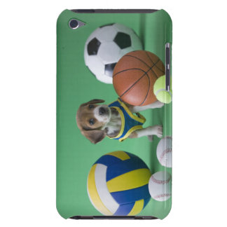Puppy surrounded by sport balls barely there iPod cases