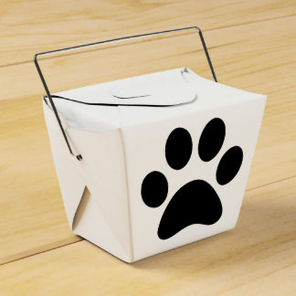 Puppy take out party favour boxes