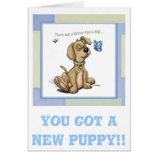Puppy Time - BINGO Dog Greeting Card