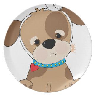 Puppy Toothache Dinner Plates