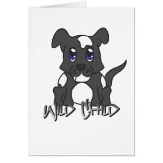 Puppy WC black Greeting Cards